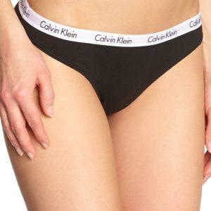 Calvin Klein Tanga cierne D1617E čierne