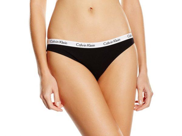 Calvin Klein dámské kalhotky D1618E černé