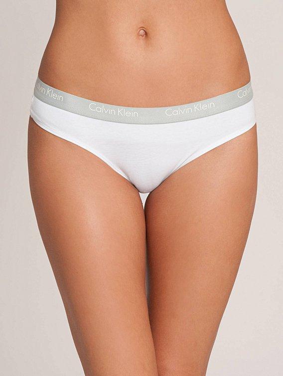 Calvin Klein Nohavičky Tanga 2P Ck One QD3583E biele