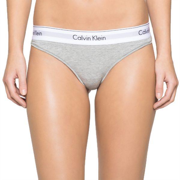 Calvin Klein Nohavičky Tangá Modern Cotton F3786E šedé